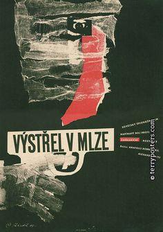 VÝSTŘEL V MLZE (Vystrel v tumane) Author: Reindl, Miloš Countries: Soviet Union Year of poster origin: 1964 Director: Anatolij Bobrovskij Genre: Spy films