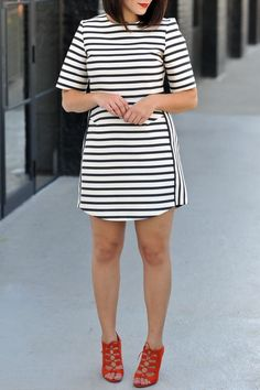 Topshop striped dres