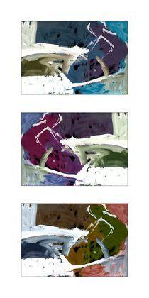 """""""Die mit den Schlittenhunden tanzen"""" Gallery Print von Pia Schneider © by atelier COLOUR-VISION   Pia Schneider  Acrylmalerei (Expressionismus)  & Mixed Media als 3er Kombination Acrylic painting (Expressionism)  & Mixed Media as a combination of 3   #art #artprint #acrylicpainting #acrylmalerei #abstract #kunst #kunstdrucke #artflakes"""