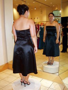 Of all the black dresses I tried on, this Jessica McClintock number was the best. But I may have been biased for the mere fact that the length was were it was suppose to be!! But also I liked its simplicity compared to the others.    Saturday, July 8,  Don't miss our gorgeous black bridesmaid dresses. Be sure to visit our website for wedding favors, reception decorations, and more. http://www.CreativeWeddingStyle.