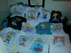 Lot of 12 Vintage The Simpsons T-shirt (4) are Itchy Scratchy Bart Homer Maggie…