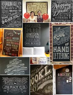 chalk board art - the possibilities of really personalizing your wedding ...