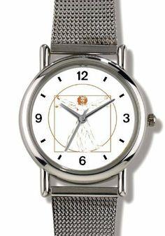 Vitruvian Man by Leonardo Da Vinci - WATCHBUDDY® ELITE Chrome-Plated Metal Alloy Watch with Metal Mesh Strap-Size-Small ( Children's Size - Boy's Size & Girl's Size ) WatchBuddy. $79.95