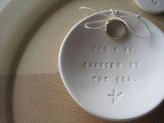 Hey, I found this really awesome Etsy listing at https://www.etsy.com/listing/92289282/ring-bearer-bowl-married-by-the-sea