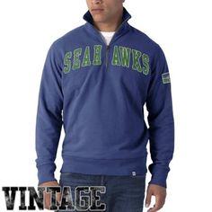 Pittsburgh Steelers Vintage Striker Quarter Zip Pullover Sweatshirt - Black