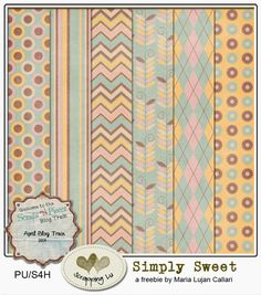 """Scrapping Lu: """"Simply Sweet"""", a freebie for Scraps N Pieces Blog Train*"""