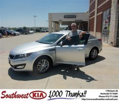 #HappyAnniversary to James Prater on your 2013 #Kia #Optima from Gary Guyette Jr at Southwest KIA Rockwall!