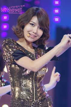 Sooyoung (SNSD) short hairstyle.