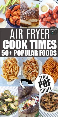 Air Fryer Oven Recipes, Air Frier Recipes, Air Fryer Dinner Recipes, Air Fryer Rotisserie Recipes, Air Fryer Cooking Times, Cooks Air Fryer, Emeril Air Fryer, Air Fried Food, Air Fryer Healthy