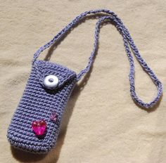 Cell phone case iPhone 4 case  crochet by aboutCRAFTS on Etsy