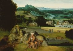 Title:Rest on the Flight into Egypt (The Miraculous Field of Wheat)  Artist:Workshop of Joachim Patinir   Date:c. 1518-1524