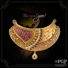 Because you are amazing just the way you are! Antique Necklace, Antique Jewelry, Gold Necklace, Gold Jewellery Design, Gold Jewelry, India Jewelry, Chocker, Gold Set, Necklace Designs