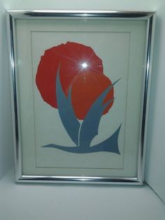 original abstract  lithograph  vintage mid century by artiques71