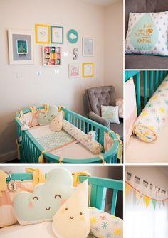 Chambre bébé fille en nuances de vert inspirantes   Pastel, Bébé ...
