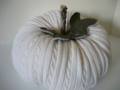 white sweater pumpkin