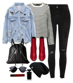 """""""Untitled #2961"""" by theaverageauburn on Polyvore featuring River Island, Maje, Yves Saint Laurent, Rebecca Minkoff, Narciso Rodriguez and NYX"""