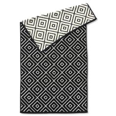 Handtuch Rhomb, schwarz/ecru