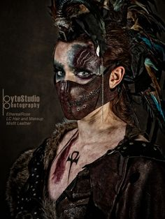 (via Don't Stare by on deviantART) Post Apocalyptic Costume, Post Apocalyptic Fashion, Cosplay, Apocalypse Costume, Apocalypse Makeup, Wasteland Warrior, After Earth, Apocalypse World, Steampunk