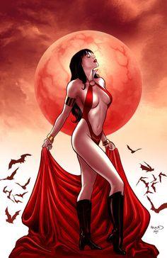 Vampirella 8 cover by PaulRenaud.deviantart.com on @deviantART