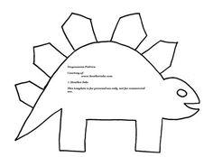 printable dinosaur pattern | How to Make Cool Dinosaur Applique Pillows with FREE Dinosaur Patterns ...