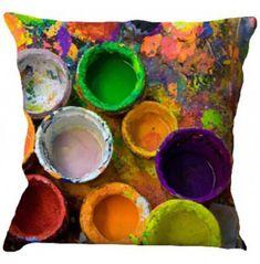 Colorful Box Print Cushion Cover