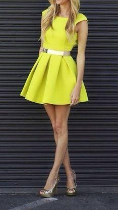 Love it. Neon dress