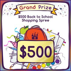 $500 Back-to-School Shopping Spree #Sweepstakes Ends 9/30