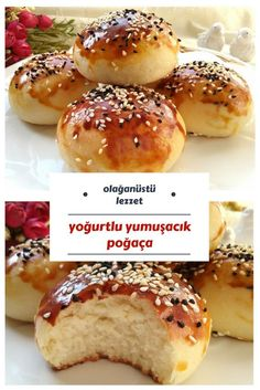 Donut with Yogurt (Extraordinarily Soft And Very Delicious) - Yummy Recipes - yemek - No Salt Recipes, Yogurt Recipes, Snack Recipes, Dessert Recipes, Cooking Recipes, Yummy Recipes, Delicious Desserts, Yummy Food, Wie Macht Man