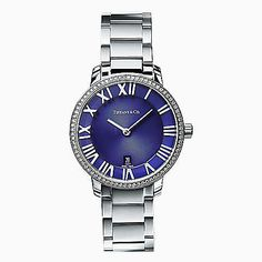 1513d52ec3f2 Shop Swiss-made watches at Tiffany   Co. featuring luxury watches in  stainless steel