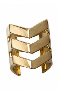 Shop Chevron Negative Space ring by TOM TOM Jewelry on http://www.mybeautifuldressing.com/en/4066-chevron-negative-space-.html