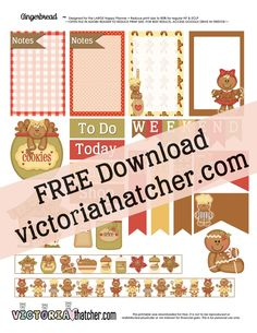 FREE Gingerbread Planner Printable BY Victoria Thatcher