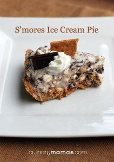 S'mores Ice Cream Pie - An awesome summer dessert culinarymamas.com