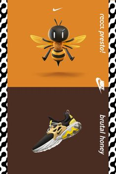 technology - An expressive look, lightweight feel, and a whole lot of personality—introducing React Presto Shop the new 'Brutal Honey' color on Nike com Nike, Creative Shoes, Honey Colour, Stark, New Shoes, Women's Shoes, Custom Shoes, Art Sketches, Character Art