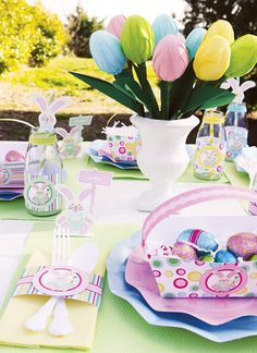 Festa de Páscoa Candy Color/ Easter decor party