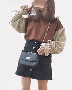 Cool Outfits, Casual Outfits, I Love Fashion, Womens Fashion, Ulzzang Fashion, Kawaii Clothes, Korea Fashion, Aesthetic Clothes, Fashion Dresses