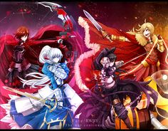 Fate x RWBY : The completed edition by dishwasher1910.deviantart.com on @DeviantArt