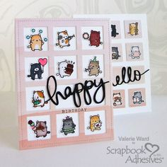 At ValByDesign I post every week tips, tricks, techniques and inspiration for handmade card making and scrapbooking. Birthday Cards, Happy Birthday, Cat Birthday, Handmade Card Making, Handmade Cards, Slider Cards, Rainbow Paper, Wink Of Stella, Interactive Cards