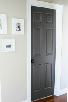 This charcoal color is an alternative to painting interior doors black