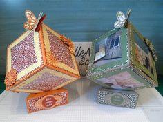 Cube Photo, Photo Cubes, Diy Mini Album, Mini Albums Scrap, Fancy Fold Cards, Folded Cards, Explosion Box, Card Tutorials, Paper Gifts
