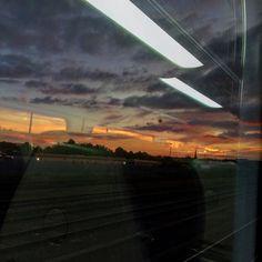 Bye Brizzle! #redsky #skyline #moodysky #travel #railway