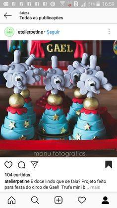 Circo Do Mickey, Fondant, Candy, Christmas Ornaments, Holiday Decor, Birthday, Sweet, Decorated Cookies, Circus Birthday Cakes