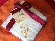 Personalized Towel ,marco mario souvenir, wedding souvenirs, souvenir pernikahan