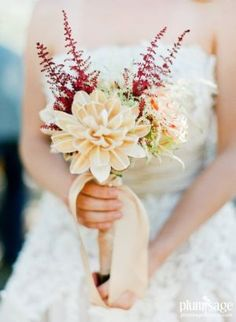 Bolsa wood blooms and astilbe sprig bouquet by Plum Sage Flowers
