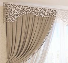 40 Amazing Woodworking Curtains Ideas - Decor Units Source by NevaKT Classic Curtains, Elegant Curtains, Beautiful Curtains, Modern Curtains, Home Curtains, Curtains Living, Curtains With Blinds, Valance, Cornice
