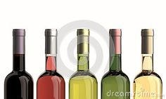 Bottles of wine colored front.