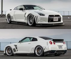 SKIPPER aero wide body kit with rear wing (carbon fiber) for Nissan GTR R35 Gtr, Nissan Gtr R35, Wide Body Kits, Trucks, Jdm, Carbon Fiber, Cars, Motorcycles, Notebook