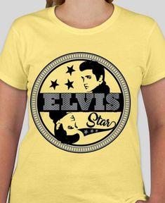 c6dfd2080f4a5 Elvis Presley star shirt Elvis tees shirt King of Rock and Roll Elvis Gift  Elvis Aaron Presley top   tees women s clothing men s Gifts
