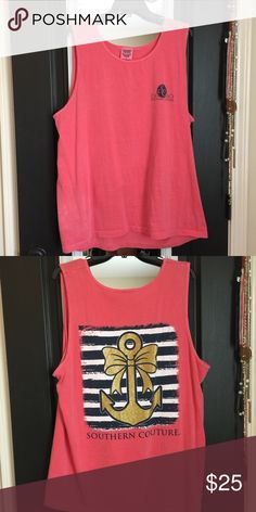 Southern couture t-shirt Brand new tank top tee! So comfy. Make an offer  Tops Tank Tops
