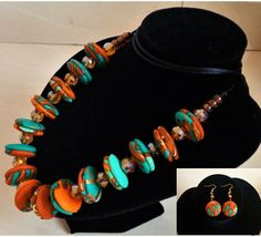 Free Shipping  Ankara Button beaded necklace by CryztalStyles