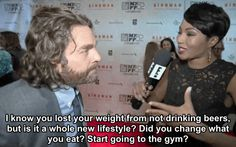 Zach Galifianakis Has The Perfect Response To A Comment On His Weight Loss